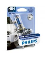 ΛΑΜΠA ΑΥΤΟΚΙΝΗΤΟΥ PHILIPS 9006/HB4 Crystal  Vision  λάμπα 12v/55w