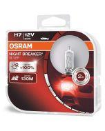 ΛΑΜΠΕΣ ΑΥΤΟΚΙΝΗΤΟΥ ΣΕΤ H7 OSRAM NIGHT BREAKER SILVER 12V 55W +130m +100% MADE IN GERMANY