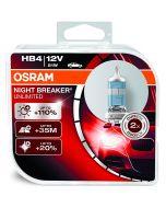 ΛΑΜΠΕΣ ΑΥΤΟΚΙΝΗΤΟΥ ΣΕΤ HB4/9006 OSRAM NIGHT BREAKER UNLIMITED 12V 60W +35m +110% MADE IN USA