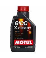 ΛΑΔΙ ΑΥΤΟΚΙΝΗΤΟΥ MOTUL 8100 X-CLEAN+ 5W30 1lt 100% Συνθετικά