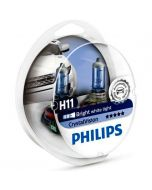 PHILIPS H11 Crystal  Vision σετ λάμπες 12v/55w+ΛΑΜΠΕΣ σετ W5W