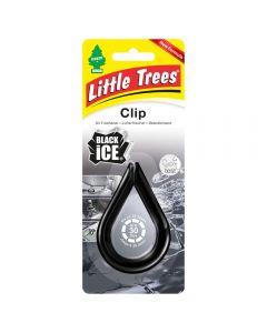 Αρωματικό αυτοκινήτου Little Trees Clip σε άρωμα Black Ice Made in USA air freshener.