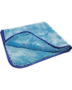 Πετσέτα μικροϊνας σατέν γαλάζια 500 gr/m² KAJA 40x40cm