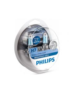 ΛΑΜΠΕΣ PHILIPS H7 WHITE VISION ULTRA 12V 55W +60% 4200K 12972WVUSM