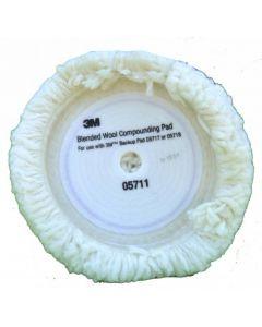 3M 5711 Γούνα Αφαίρεσης Ατελειών HOOKIT Λευκή 230mm 1τμχ