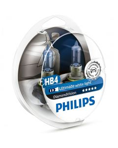 PHILIPS HB4 9006 DIAMOND VISION ULTIMATE WHITE LIGHT σετ λάμπες 12v/55w