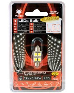 Led λάμπα race sport 36mm t11 SMD CANBUS white error free