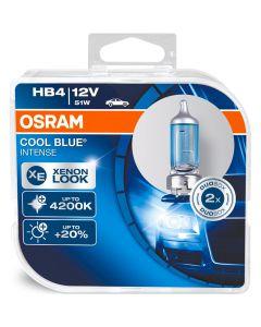 ΛΑΜΠΕΣ ΑΥΤΟΚΙΝΗΤΟΥ ΣΕΤ HB4 OSRAM COOL BLUE INTENSE 12V 51W 4200K +20% MADE IN GERMANY