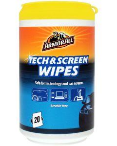 ArmorAll Υγρομάντηλα καθαρισμού οθονών Tech & Screen Wipes 20τμχ