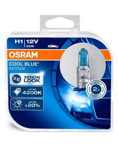ΛΑΜΠΕΣ ΑΥΤΟΚΙΝΗΤΟΥ ΣΕΤ H1 OSRAM COOL BLUE INTENSE 12V 55W 4200K +20% MADE IN GERMANY