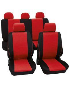 PETEX Σετ Κάλυμμα Καθισμάτων Borneo κόκκινο-μαύρο UNIVERSAL 11τμχ εμπρός-πίσω  31174812