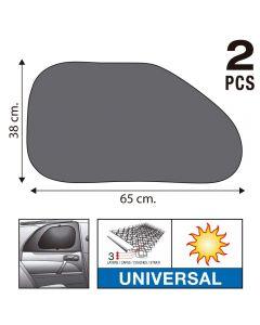 SUMEX Κουρτινάκια αυτοκινήτου Super UV 65x38cm με τριπλό στρώμα προστασίας