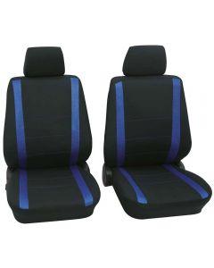 PETEX Σετ μόνο εμπρός καλύμματα καθισμάτων Samoa μαυρο-μπλε UNIVERSAL 6τμχ  31271505