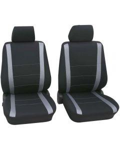 PETEX Σετ μόνο εμπρός καλύμματα καθισμάτων Samoa μαυρο-γκρι UNIVERSAL 6τμχ  31271505
