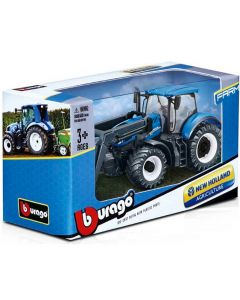 Bburago New Holland Agriculture  Tractor with Front Loader 1/50
