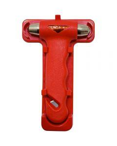 PETEX σφυράκι ασφαλείας απεγκλωβισμού για θραύση κρυστάλλων με κόφτη ζώνης και βάση.