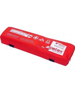 PETEX DIN 13164 Φαρμακείο πρώτων βοηθειών αυτοκινητου με Τρίγωνο Ασφαλείας και Γιλέκο υψηλής διακριτότητας σε υφασματινο τσαντακι