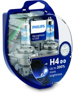 Philips H4 Racing Vision GT200 +200% 12V 60/55W
