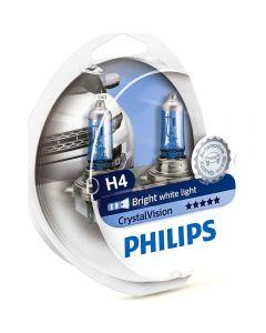 PHILIPS H4 Crystal  Vision σετ λάμπες 12v/55w