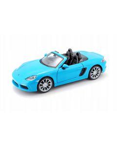 Bburago Porsche 718 Boxster γαλάζια 1/24