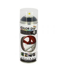 KOLOR DIP μπογιά βινυλίου σε σπρευ που αφαιρείται μαύρο ματ KD11001 400ml
