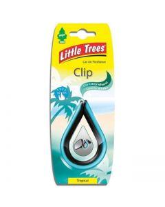 Αρωματικό αυτοκινήτου Little Trees Clip σε άρωμα Tropical Made in USA air freshener.