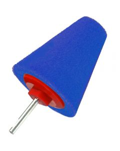 CONE BUFFING PAD BLUE PIN 85x30mm ΣΚΛΗΡΟ