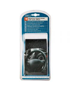 CAR PLUS Καλύμμα Τιμονιού Δετό Μαύρο